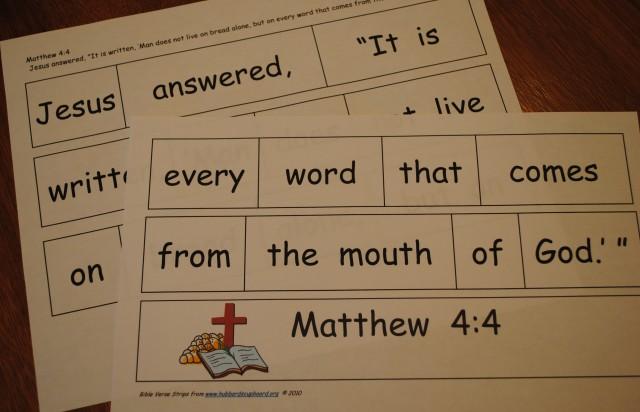 Bible Memory Cut-apart