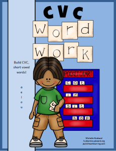 CVC Word Work Cover New