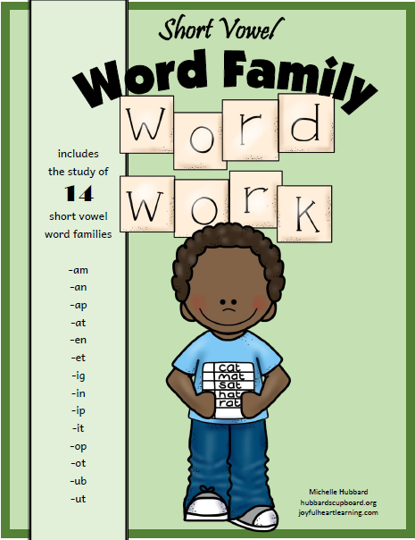 Word Families Book Cover